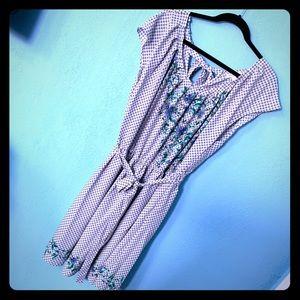 LC Lauren Conrad Gingham Floral Dress